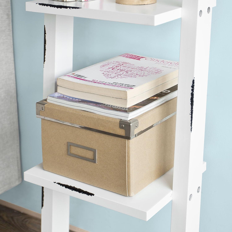 SoBuy® Scaffale a scala di stile retrò,Libreria,Mensole da angolo ...