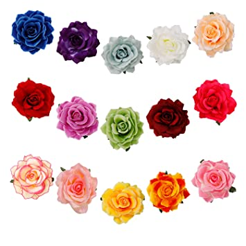 à bas prix acheter authentique haut de gamme pas cher Barrette Fleur Rose Fleur Clip Pince à Cheveux Femmes ...