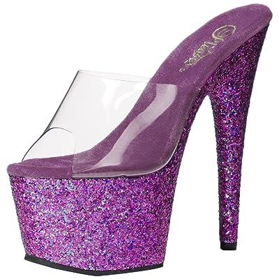 Pleaser Women's ADO701LG/C/PPG Platform Dress Sandal