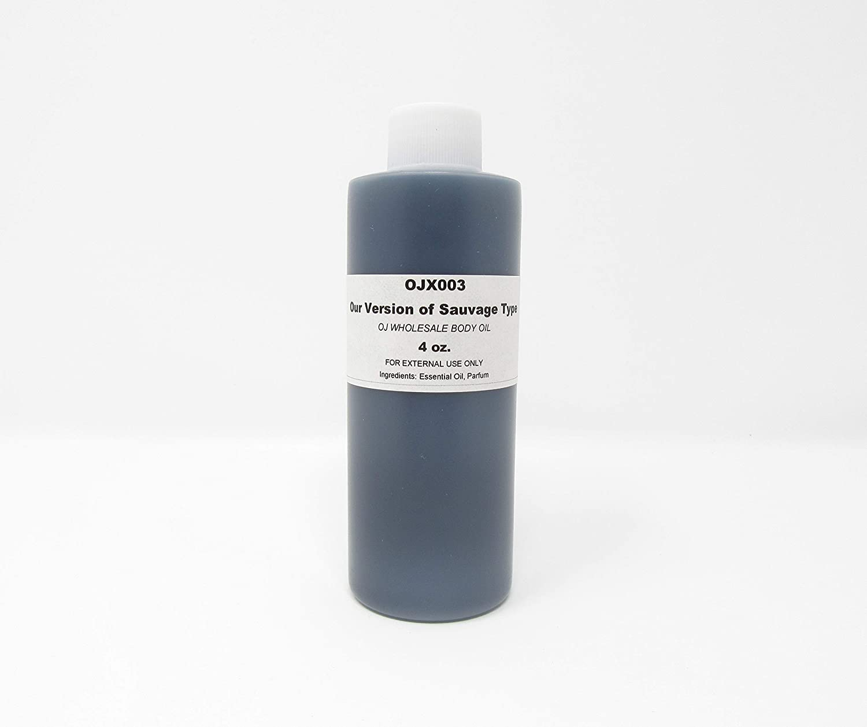 Premium Fragrance Body Oil (OJX003 Our Version of Sauvage Type, 4 oz.)