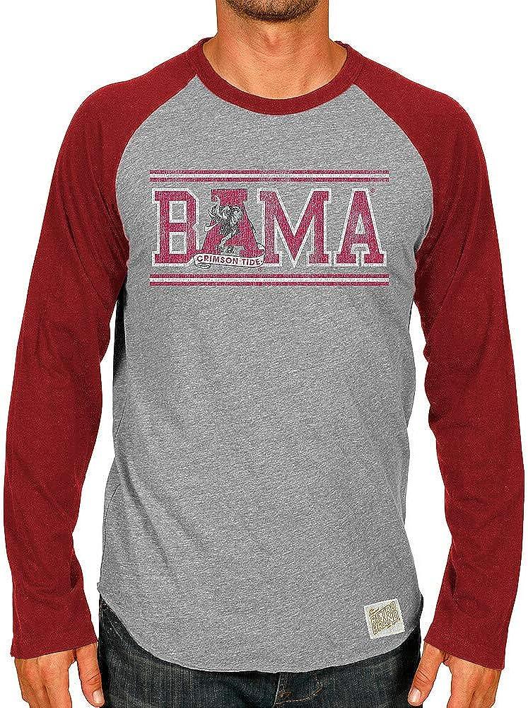 Elite Fan Shop NCAA Mens Tri Blend Raglan Long Sleeve T Shirt Retro
