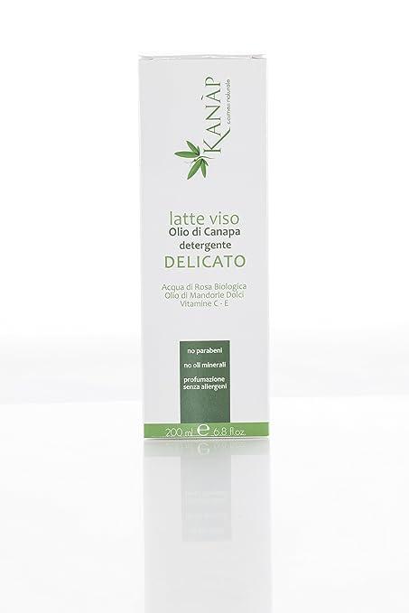 Leche Viso delicada de crema al aceite de cáñamo profunda Hidratación, alta protección, purifica