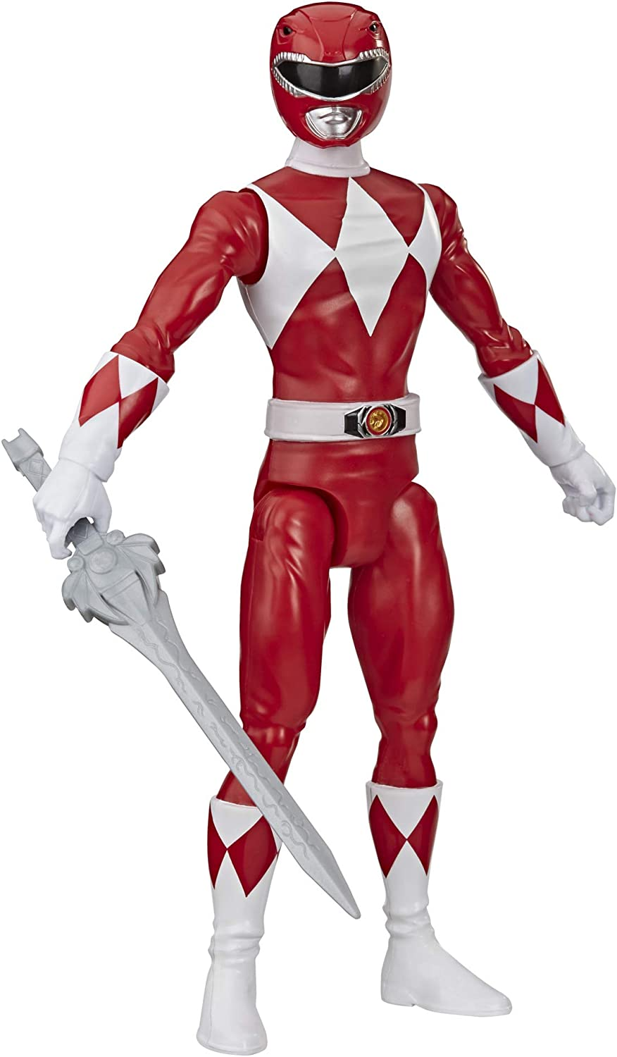 Power Rangers Mighty Morphin Red Ranger 12-Inch Action Figure Toy Inspired by Classic TV Show, with Power Sword Accessory