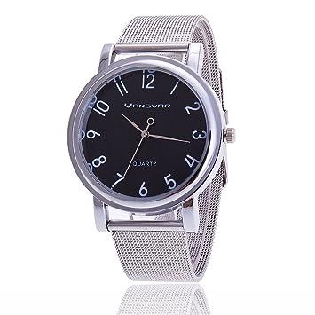 Acero inoxidable de malla de plata de la correa de las mujeres de Ginebra  relojes de c49962b87711