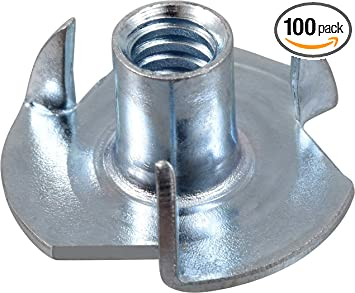 100-Pack The Hillman Group 180291 Pronged Tee Nut 8-32