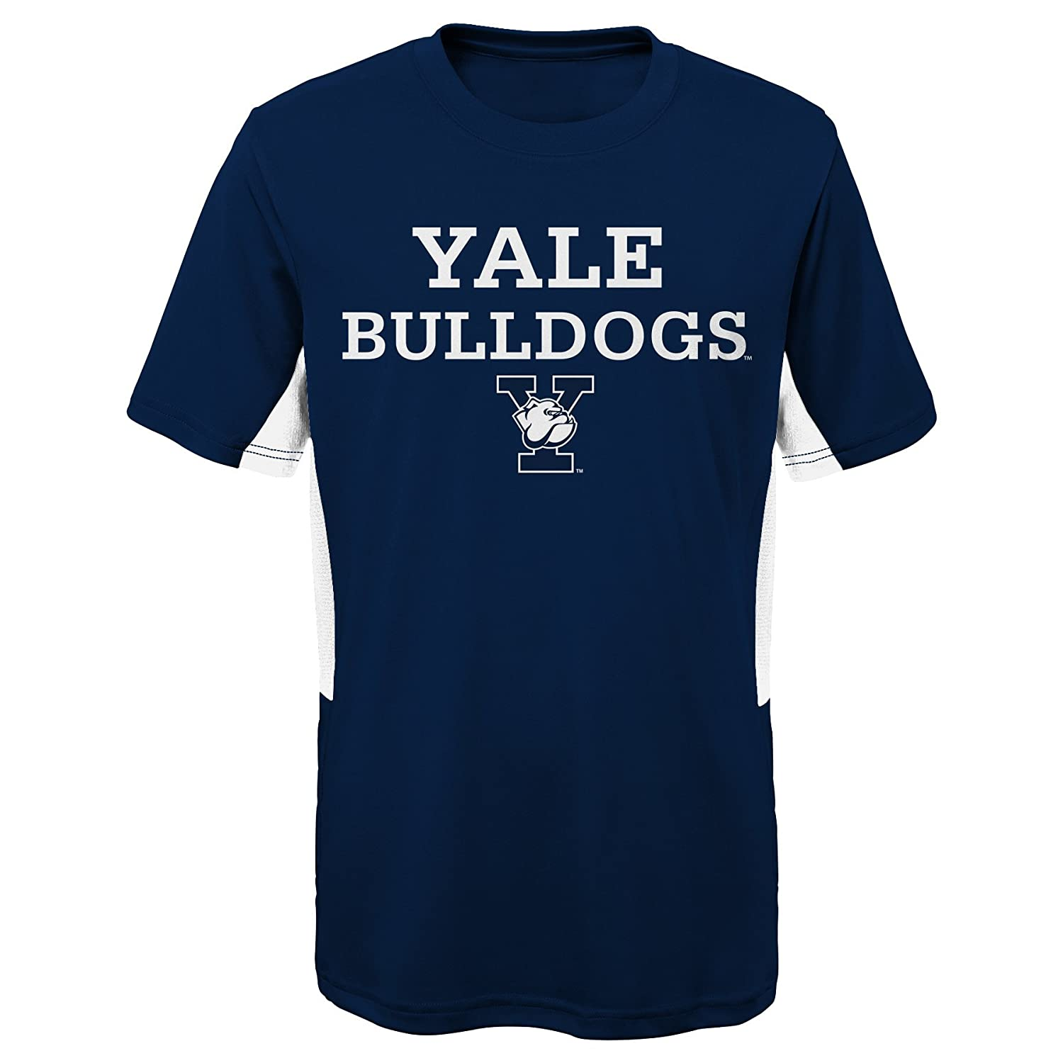 Youth X-Large NCAA by Outerstuff NCAA Yale Bulldogs Youth Boys Mainframe: Short Sleeve Performance Top 18 Dark Navy