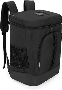 Trunab Insulated Food Delivery Backpack, Leak-Proof Reusable Cooler Bag for Bike Delivery, Uber Eats, Doordash, Beach, Camping, Picnics