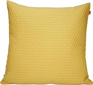 housse coussin jaune Esprit Home Housse de coussin jaune à relief 50x50 BEAT: Amazon.fr  housse coussin jaune