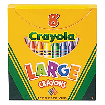Binney & Smith Large Crayons Box of 8: Office Products