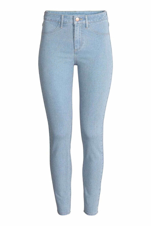 Ex Zara Ladies Skinny Womens Slim Fit Denim Cotton Blue Stretch Jeans