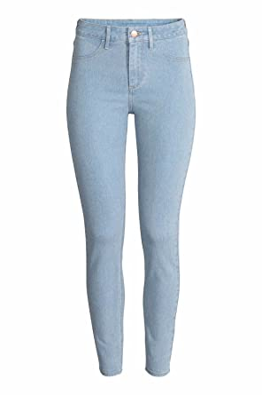 12fed512c61 Ex Zara Ladies New Woman Light wash Denim Spandex Summer Jeans Slim Trouser  (6