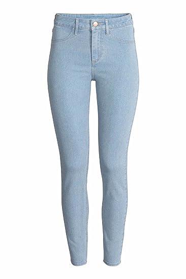 93f0a73e3e2 Ex Zara Ladies New Woman Light wash Denim Spandex Summer Jeans Slim Trouser  (6