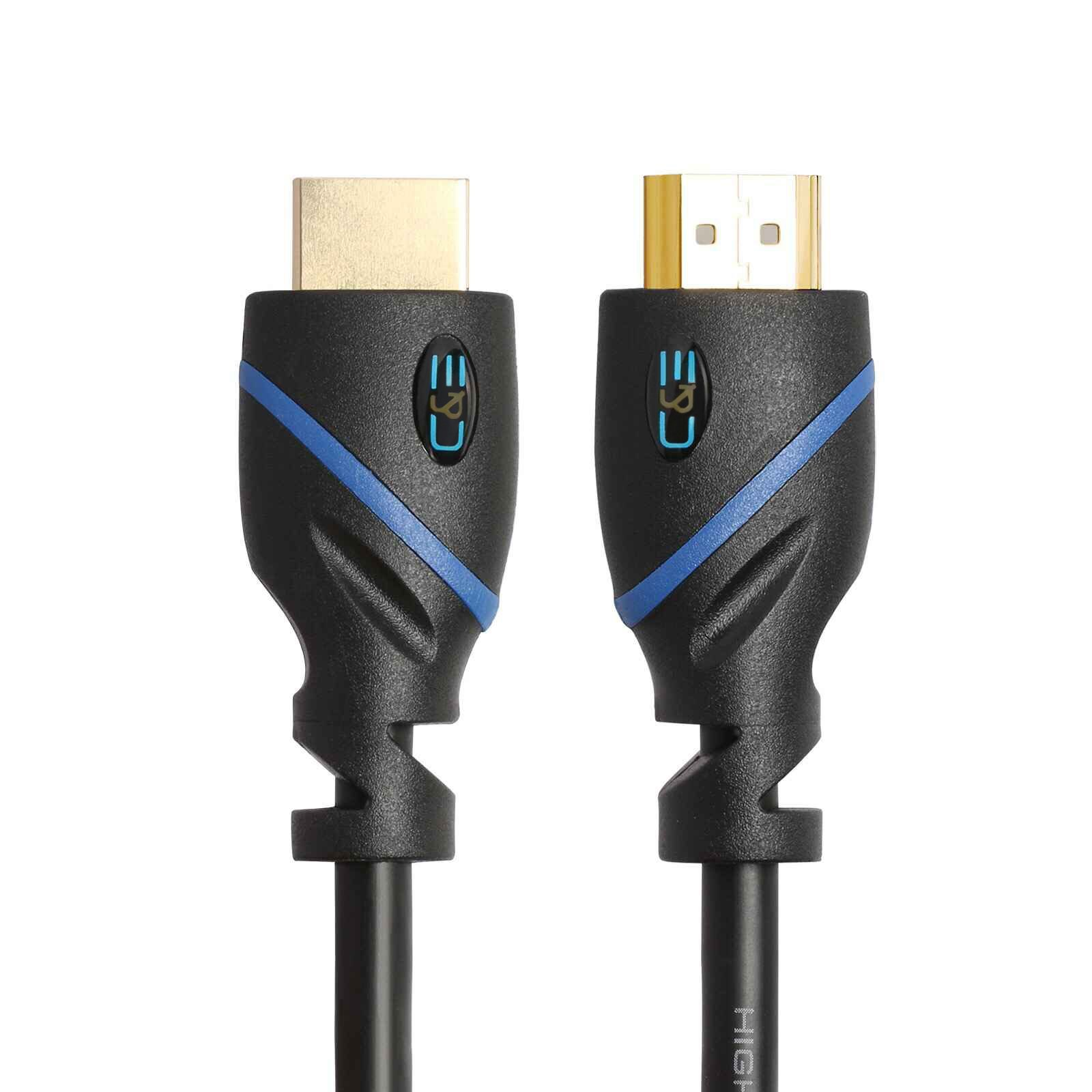 C&E High Speed HDMI Cable, w/ Built-in Signal Booster Supports 3D & Audio Return Channel Full HD[Latest Version] 100 Feet, CNE453182