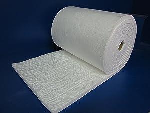 """ceramafiber Ceramic Fiber Blanket by ceramafiber - Insulation 8#, 2300F,1""""x24""""x25' for Wood Stoves, Pizza Ovens, Kilns, Forges & More - 8# Pound 2300 Degrees"""