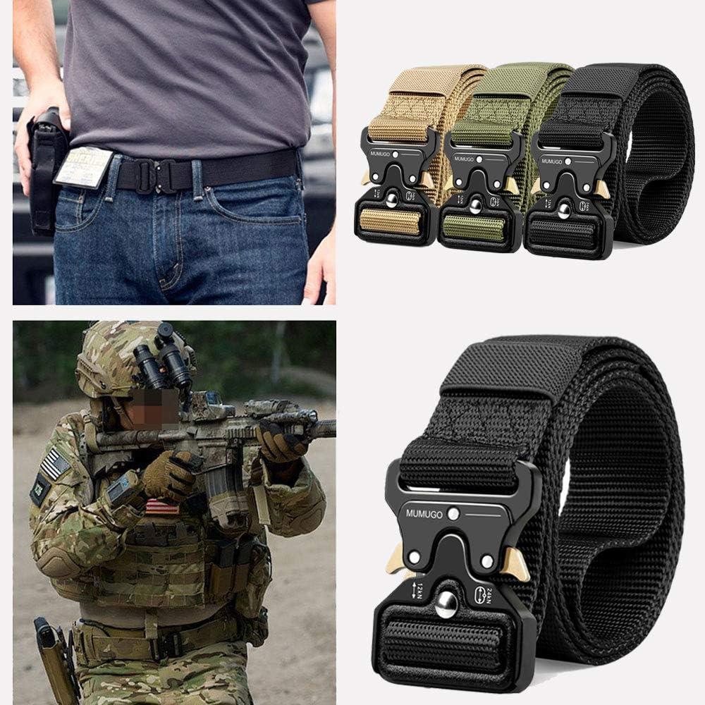 Bansga Cintura Militare Tattica per Uomo Heavy Duty Cintura Militare con Cintura Cintura in Nylon Resistente per Caccia Esecuzione di Esercizi Militari