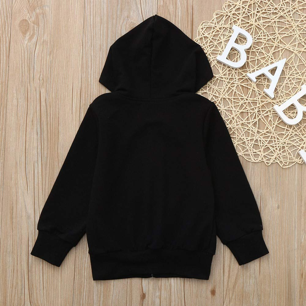 TheRang Children Kids Boys Girls Long Sleeves Hooded Sweatshirt Top Clothes Pullover