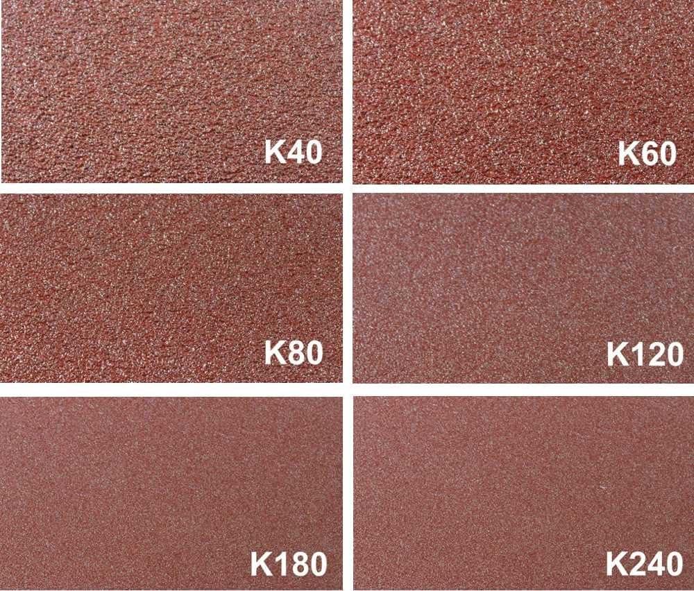 K/örnungen K40//60//80//120//180//240 je 10 Bl 93er Delta Schleifpapier mix │Kletthaftung │6 versch │ 6-Loch Schleifscheiben │ P-D-W 60 Bl