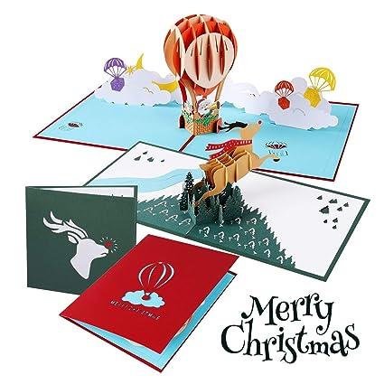 Tarjetas de Navidad 3D Atrigger, Tarjeta de Felicitaciones ...