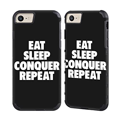 Official WWE Eat Sleep Conquer Repeat Brock Lesnar Gold Gripper Case For Apple