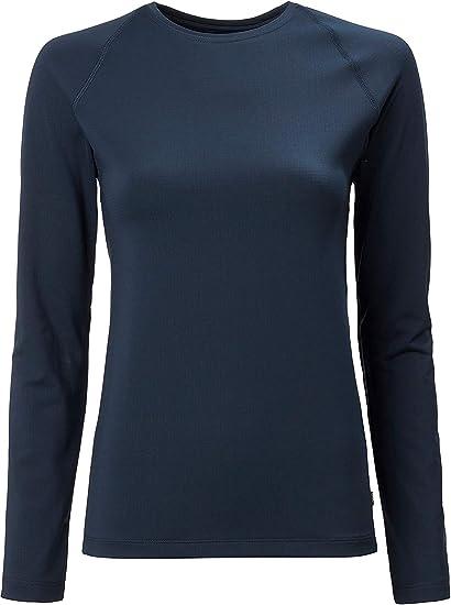 Musto Womens Evolution Camiseta de Manga Larga Sunblock tee Top 2.0 - True Navy - Hecho para Mejorar enormemente la Comodidad Cuando está Active: Amazon.es: Deportes y aire libre