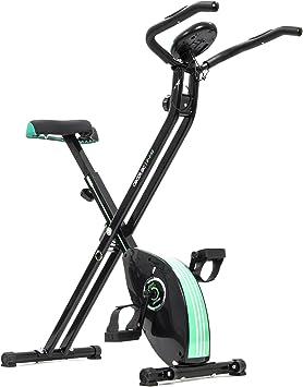 Cecotec Bicicleta Estática Plegable Magnética X-Bike. Pulsómetro, Pantalla LCD, Resistencia Variable, Pedales de Máximo Agarre, 2,5kg Volante de Inercia.: Amazon.es: Deportes y aire libre