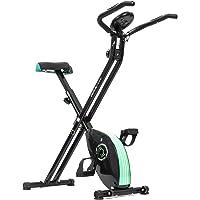 Cecotec Xbike Bicicleta estática Plegable magnética, pulsómetro y Pantalla LCD, Resistencia Variable, Pedales de máximo Agarre, Negro, No aplicable