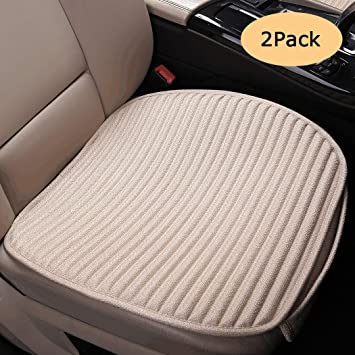 Buckwheat Hulls Universal Bottom Seat Cover,Driver Car Seat Protector Beige Front Seats Only Suninbox Car Seat Covers,Car Seat Pads Cushions for Automobiles