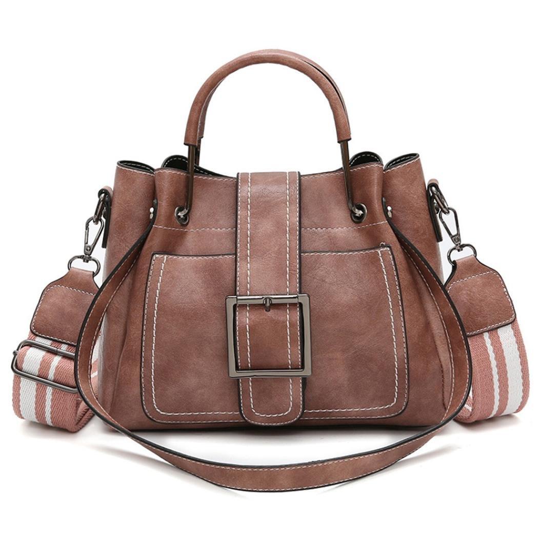 New Retro Women's Leather Shoulder Bags With Corssbody Bag&Handbag by VESNIBA