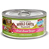 Whole Earth Farms Small Breed Grain Free Wet Dog Food, Lamb Dinner (24) 3 oz Cans