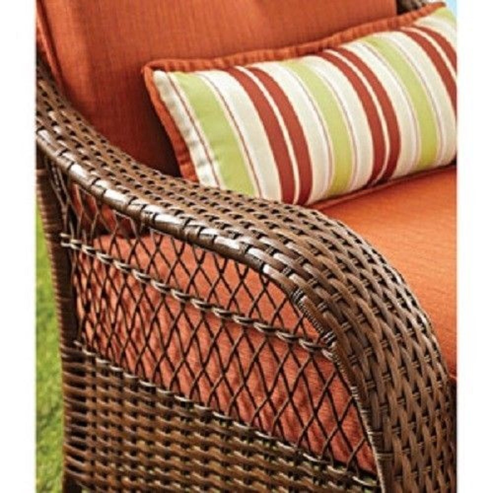 Amazon.com : Better Homes And Gardens Azalea Ridge Porch Deck And Patio  Rocking Chair All Weather Outdoor Wicker Rocker Furniture, 37 Part 28