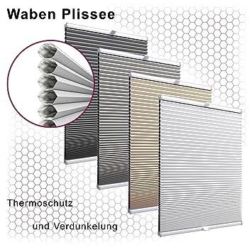 Gut bekannt Amazon.de: Gardinen21 Thermo Wabenplissee nach Maß in der YE87