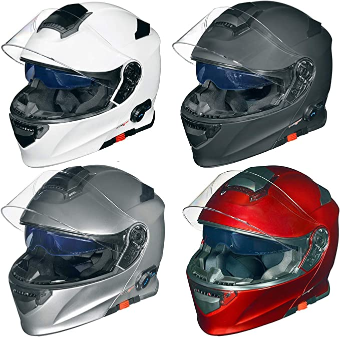 Rs 983 Bluetooth Klapphelm Motorradhelm Conzept Motorrad Modular Helm Rueger Größe Xl 61 62 Farbe Rot Auto