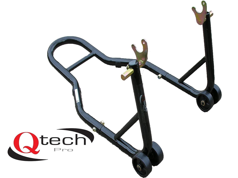Qtech Motorrad Hinterrad V-Aufnahme MONTAGEST/ÄNDER f/ür Prismabuchsen Werkstatt universelle Passform mit 200/kg Hubkapazit/ät Lenkkopf Heber Track