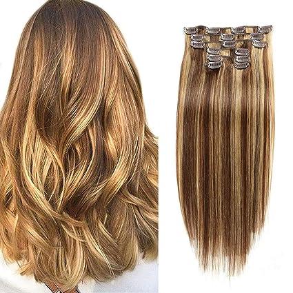 Amazon.com: CHARMARTIST Extensiones de cabello humano con ...