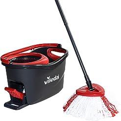 Vileda Easy Wring & Clean Turbo Set de limpieza para el hogar, cubo con pedal