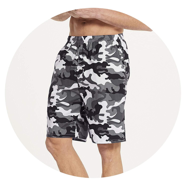 crack of dawn Men Pajama Shorts Plus Size Beach Swimming Quick Drying Mens Sport Pants Cotton Sleepwear Shorts