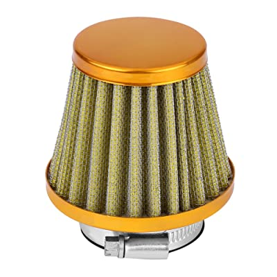 38mm Air Filter, Air Filter Intake Induction Kit Fit Most Off-road Motorcycle ATV Quad Dirt Pit Bike(Gold): Automotive