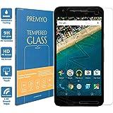 PREMYO vetro temperato Nexus 5X. Pellicola vetro temperato Nexus 5X con una durezza di 9H e bordi arrotondati da 2,5D. Pellicola in vetro Nexus 5X