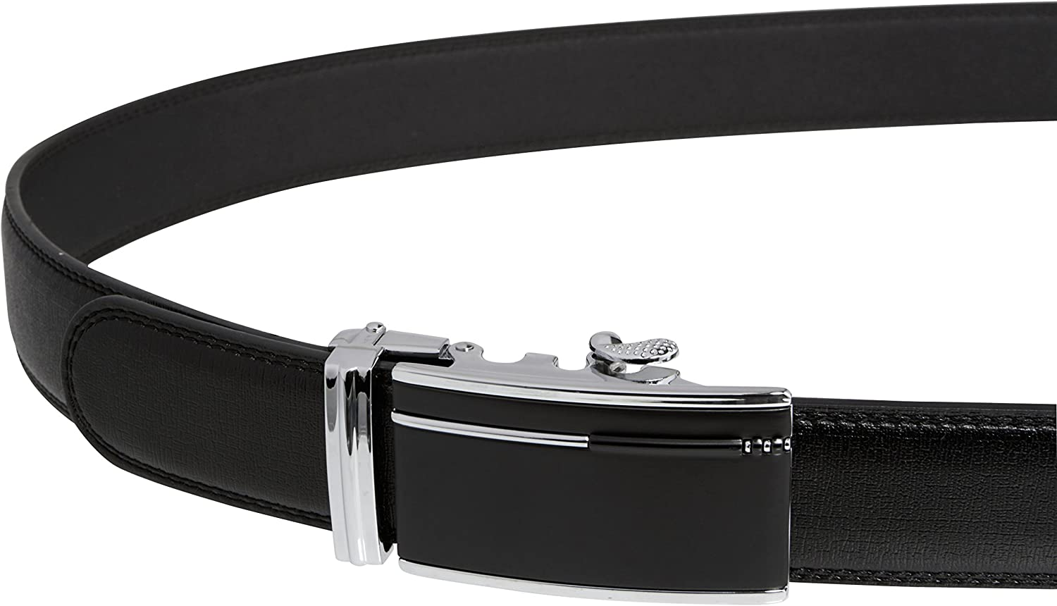 Imperial Mens Ratchet Leather Dress Belt With Gift Box