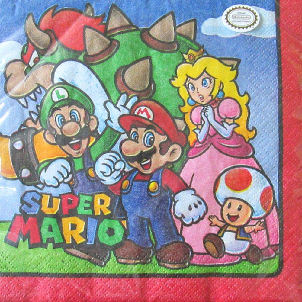 Super Mario Cartoon Lunch Napkins (16ct)