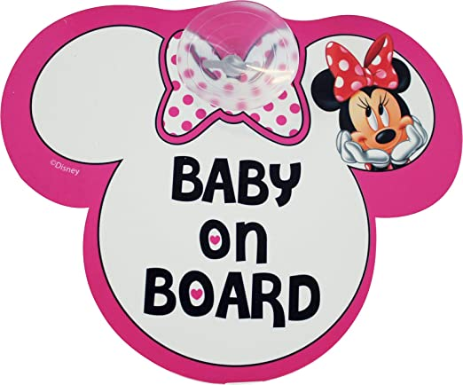 "9 opinioni per Disney Segnale Auto ""Baby On Board"" Minnie"