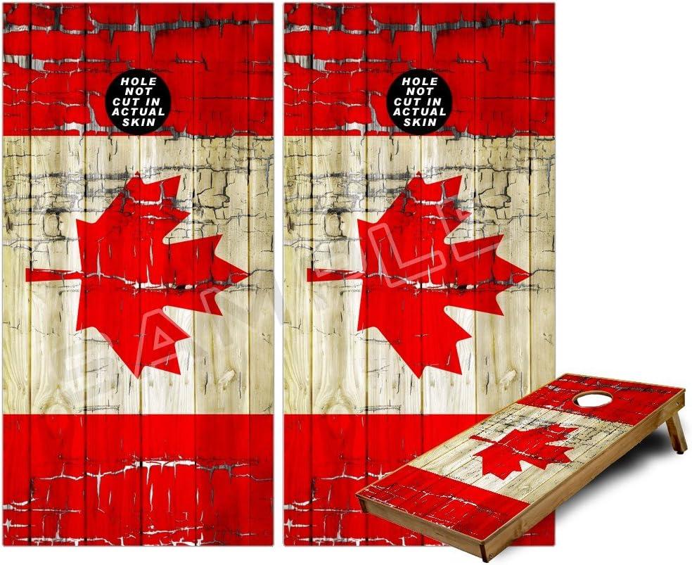 ACA REGULATION CornHole Bag Set of 8 Canada Canadian Maple Leaf Flag /& USA Flag