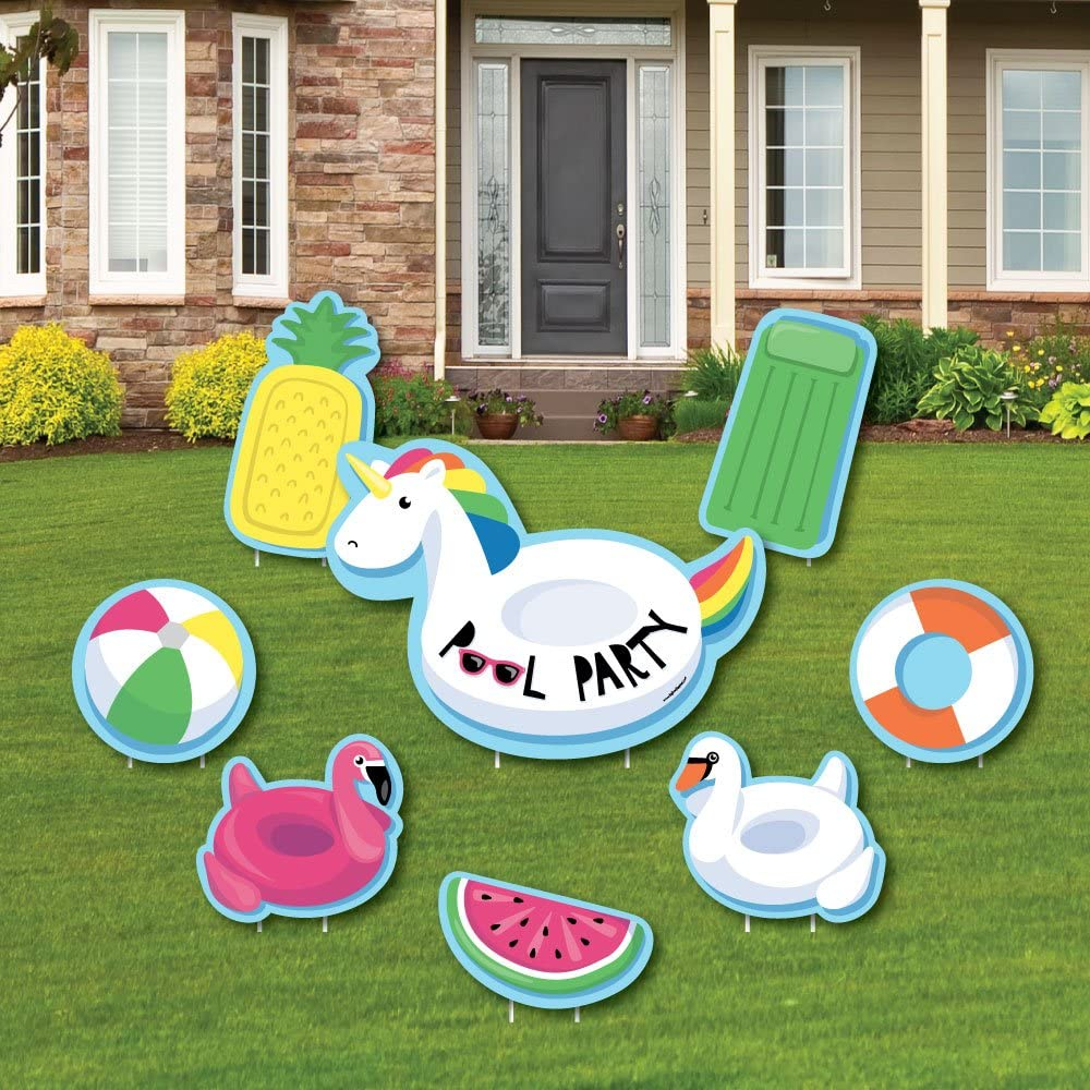 Shaped Lawn Decorations Making Waves Swim Team Outdoor Yard Decorations Swim Party Yard Signs Swimming Lawn Ornaments 8 Pc