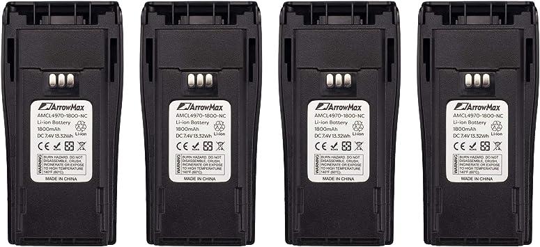 4 pcs NNTN4496AR NNTN4851 Battery for Motorola CP200XLS MOTOTRBO CP200D CP340