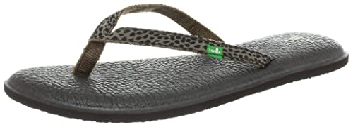 brown 36 Para Chanclas Eu Sanuk Spree Mujer Marron Yoga Lynx pqxgnv0