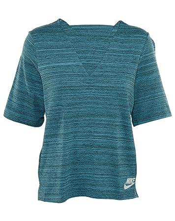 e90a2e728765 Nike W NSW AV15 Top KNT T-Shirt, Damen  Amazon.de  Sport   Freizeit