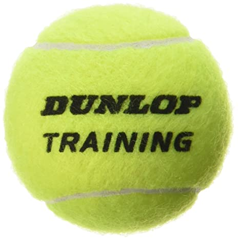 Dunlop Train Ylw 60Poly - Pelotas de tenis (entrenamiento, 60 pelotas)