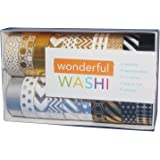 Wonderful Washi Japanese Decorative Paper Foil Craft Tape Elegant Collection Gold & Silver (Set of 20 rolls)