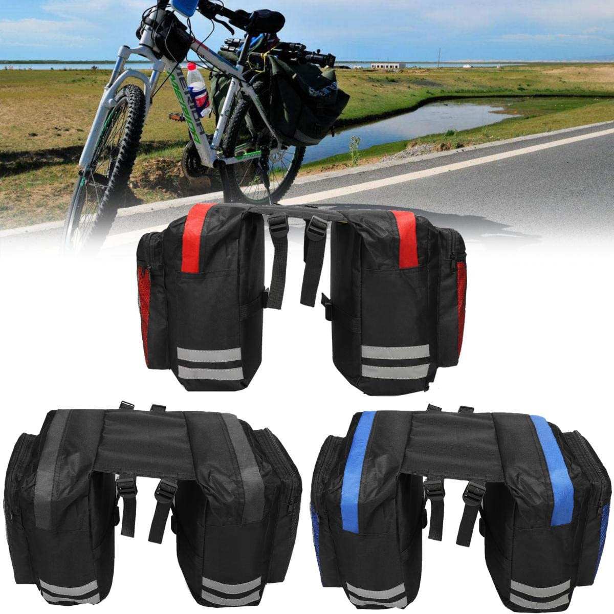 600D 20L Bicycle Rear Rack Seat Saddle Bag Travel Cycling Bike U ~US