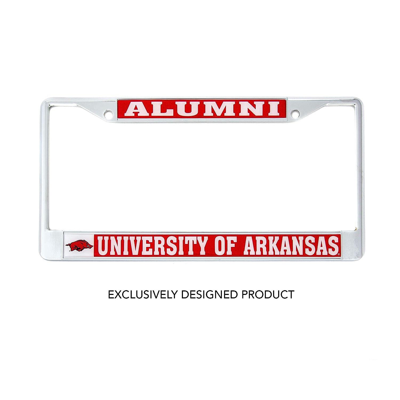 Craftique Desert Cactus University of Arkansas Alumni Metal License Plate Frame for Front Back of Car Officially Licensed UA Razorbacks Alumni